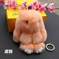 The dead rabbit Keychain Keyring Rhinestone Crystal Charm Pendant Key Bag Chain Gift New Fashion Free Shipping
