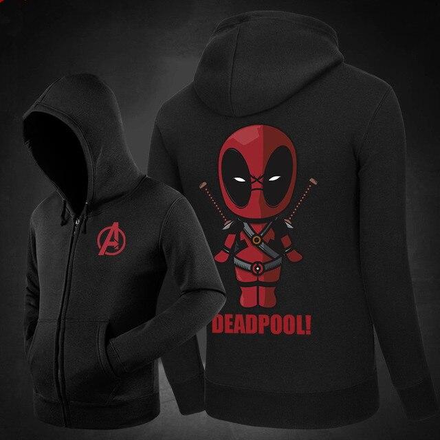 b2804cb296457 Deadpool à capuche hommes 2019 nouvelle mode Marvel Comics sweat polaire à  capuche Sportswear Anime personnages