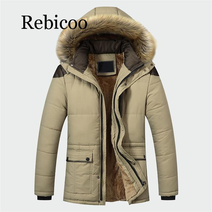 Winter Jacket Men Brand Clothing Fashion Casual Slim Thick Warm Mens Coats Parkas With Hooded Long Overcoats Male Clothes(China)