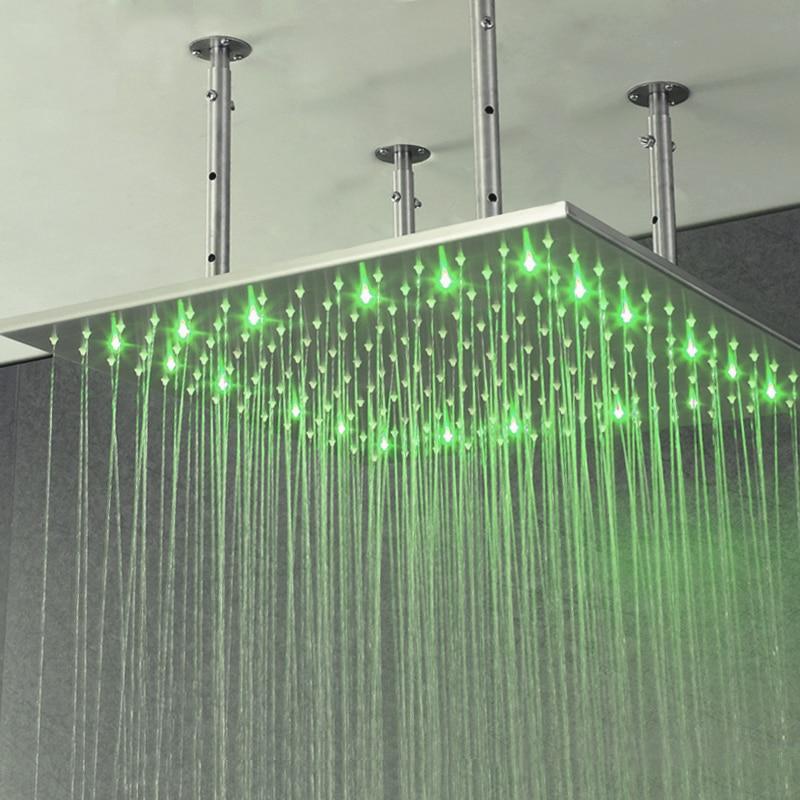 Hot Item Bathroom Rainfall Big Shower Heads 40 Inch LED Light ...
