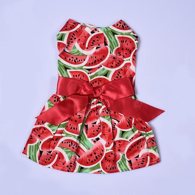 2017 Summer Watermelon Patterns Pet Dog Puppy Princess Dress Cute Pet Clothes  XS/S/M/L 1pcs