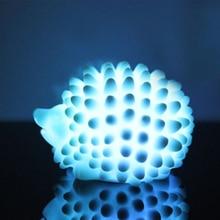 LED ضوء الليل ديكور منزلي مصباح مكتب مصابيح تغيير لون عيد الميلاد الحاضر الطفل ضوء المنزل السرير LED القنفذ