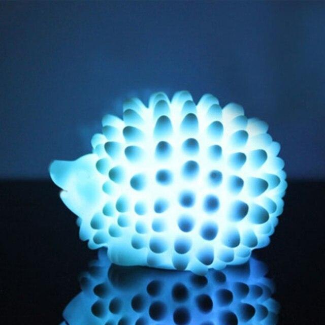 LED לילה אור ביתי קישוט מנורת שולחן מנורות שינוי צבע חג מולד הווה תינוק אור בית המיטה LED קיפוד