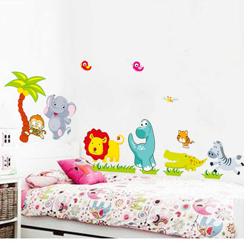 Cartoon Animals Removable Wall Decal Stickers Kids Baby Nursery Rooms Decor