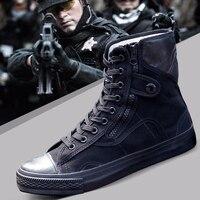2018 армейская Мода черный дышащая защитная обувь рабочие защитная обувь Нескользящая одежда тренировочные сапоги высокие