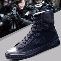 2018 Army Fashion Black Breathable Safety Shoes Work Protective Shoes Anti skid Wear Training Boots High