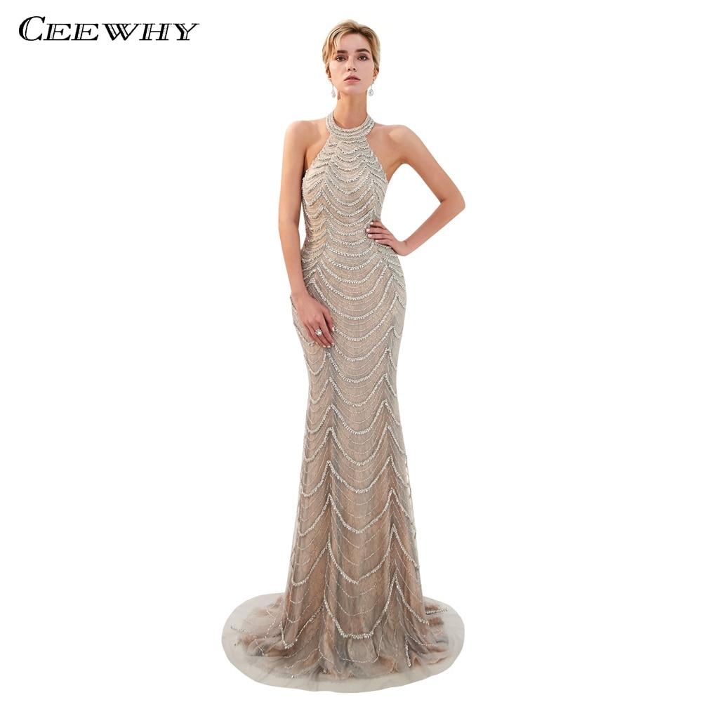 b3d09a54600dc52 ... вечерние платья бисером Vestidos Largos · CEEWHY с открытой спиной сексуальное  вечернее платье плюс размеры Abendkleider Дубай вечернее платье «русалка»
