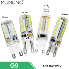 mumeng G9 LED Bulb 3W 4W led Light Bulb 3.5W Dimmable Spotlight SMD3014 Ampoule led 110V 220V Home Lampara 5 or 10pcs/lot