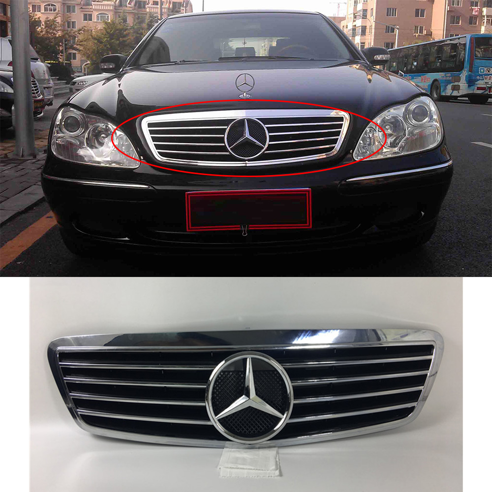 For Benz S Classic W220 S280 S320 S350 S500 S600 Racing Grille With 2005 Radio Wiring Logo 1999 In Grills From Automobiles Motorcycles On
