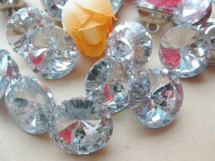 Corazón De Plata Brillo Blanco Cristal Bling Maniquí Bebé Shamballa gitana Clip Cadena