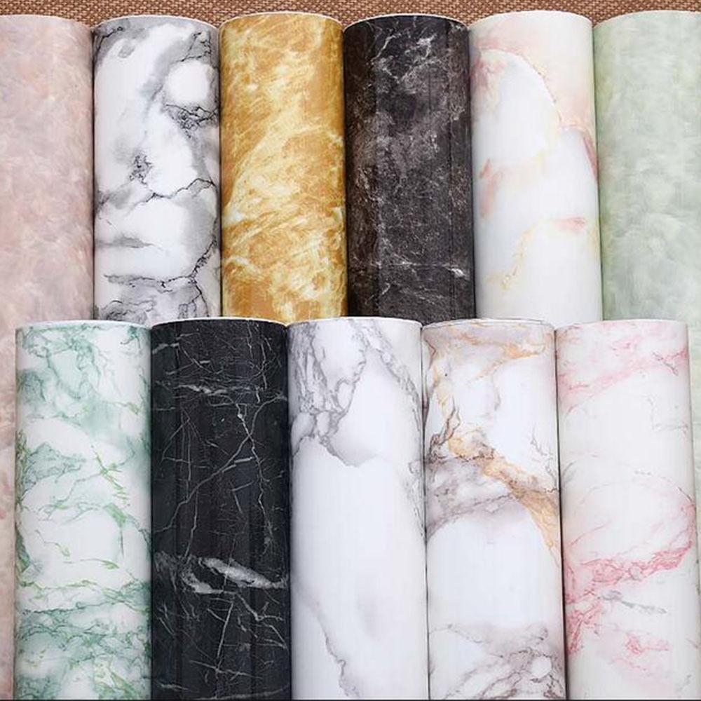 0.6 M X 10 M Auto-adhésif Marbre Motif PVC Papier Peint Autocollants Moderne Amovible Pierre Effet Vinyle papier Peint pour cuisine