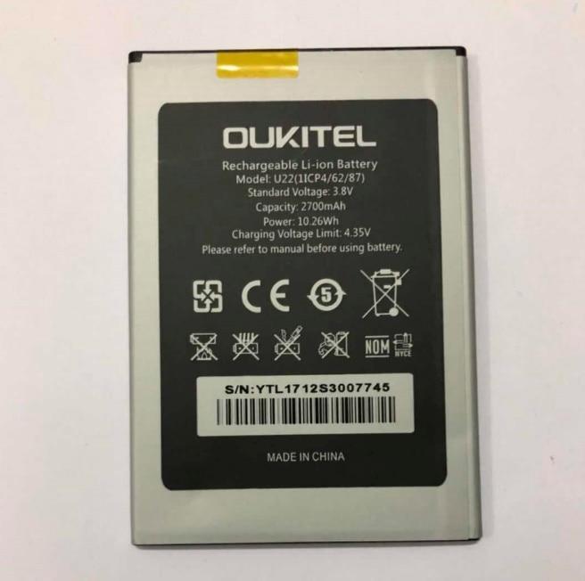 Oukitel U22 Battery 100% Original 2700mAh Backup Replacement For Mobile Phone