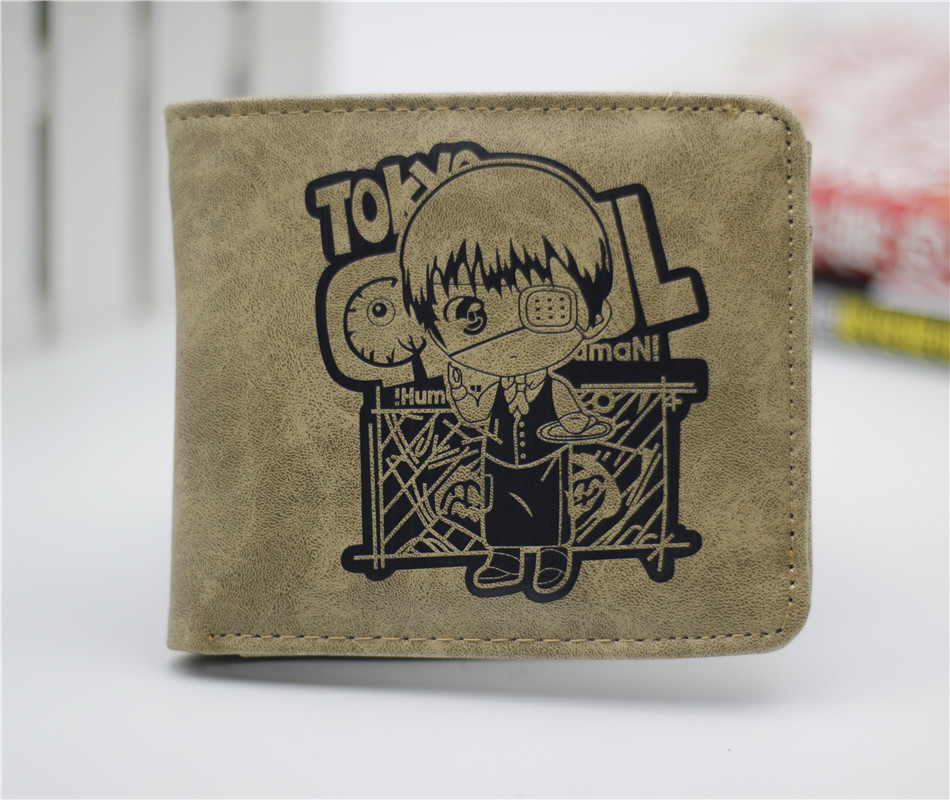 Japan anime Tokyo Ghoul wallet QQ style cosplay billfold men and women students personality short animated cartoon fashion purse