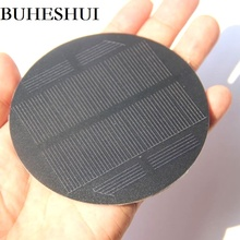 BUHESHUI 0.85W 5.5V Mono Solar Cell  PET Round Solar Panel For 3.7V Battery System DIY Solar Toy Panel Light Diameter 91MM 30pcs