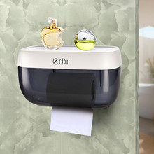 ABS Plastic Convenient Toilet Paper Tissue Box Waterproof Holder Bathroom Kitchen Accessories No Need To Punch