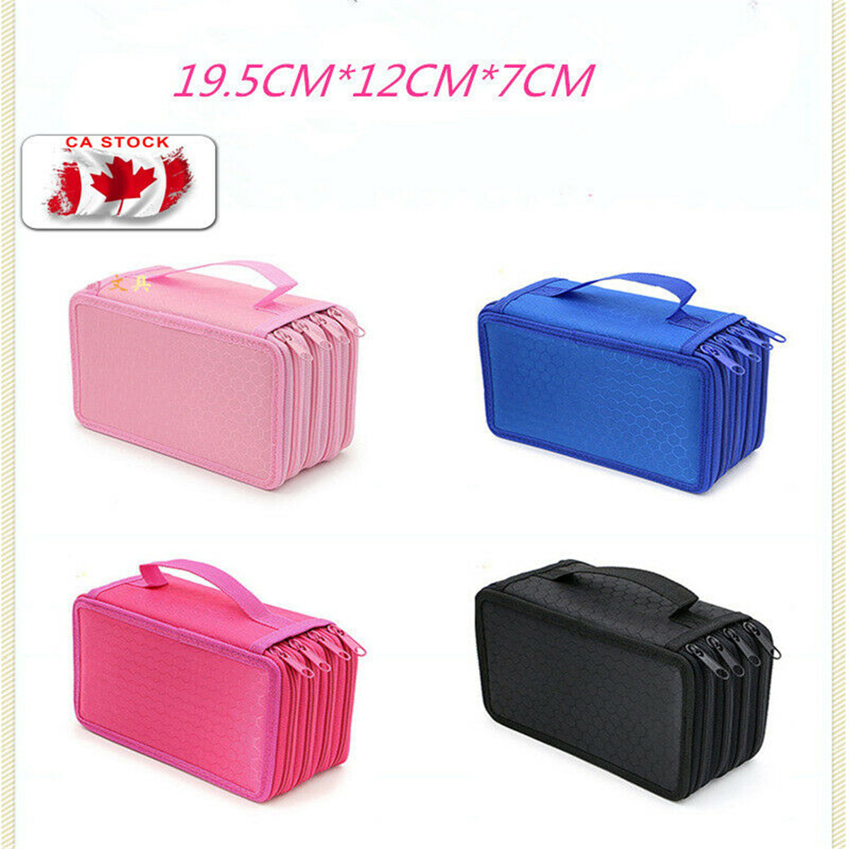 2019 Brand  New Style Fahion Makeup Storage Bag  Solid High Capacity Box Stationary Pen Pouch Bag Pen Pencil Case
