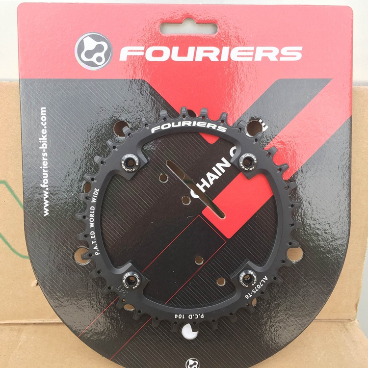 Black Fouriers Bike Single Chain Ring P.C.D 104mm Bicycle Chainrings For S H I M A N O 10speed Narrow-wide Teeth 1pcs black fouriers bicycle single chain ring p c d 104mm 32t 4mm bike chainrings narrow wide teeth