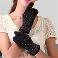 Winter Women Guantes New Design Luva Female Driving Gloves Mujer Phone Touched Screen Mittens Solid Wrist Cashmere Glove G030