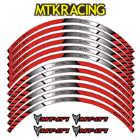 MTKRACING for YAMAHA MT 07 motorcycle wheel decals Reflective stickers rim stripes motorbike mt07