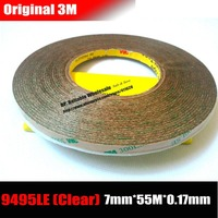 3M 7mm 55M 0 17mm Super Strong Bond Double Sided Adhesive Clear Tape For Tablet Mini