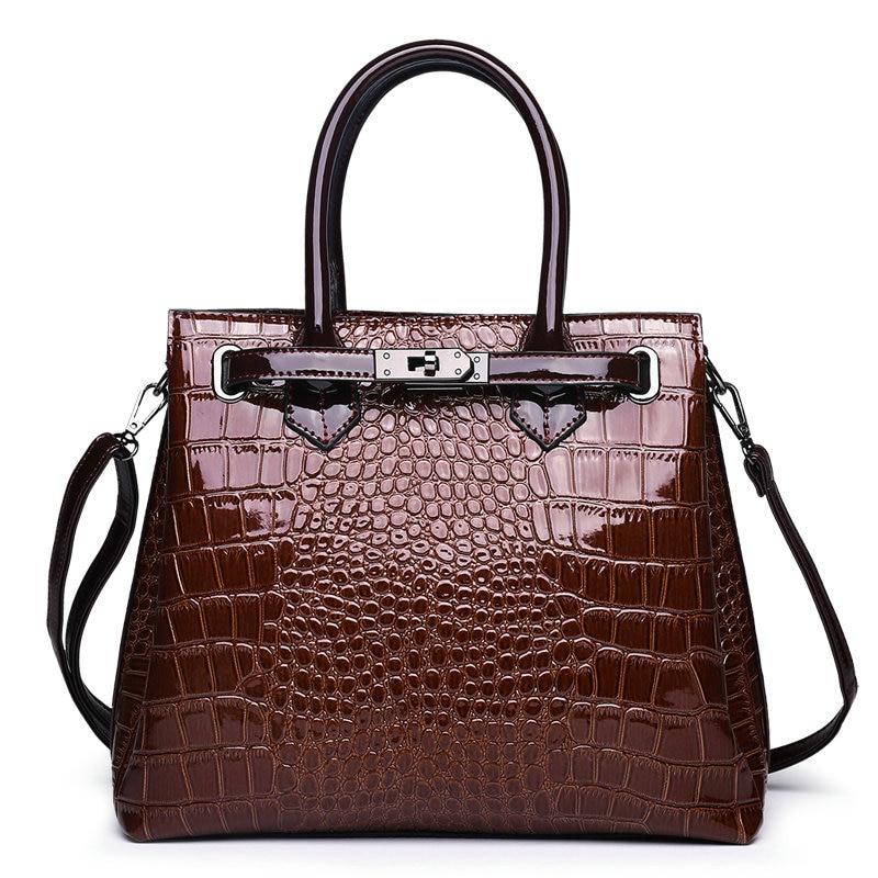 패션 명품 유명 브랜드 악어 가방 여성 가죽 어깨 가방 악어 가죽 핸드백 숙녀 메신저 가방 여성 가방