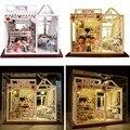 Hoomeda PH002 Aperitivos Mágicos En Miniatura Dollhouse DIY Hecho A Mano Kit Con Luces Mejor Regalo Muñecas Juguetes Para Niños Niñas Adultos