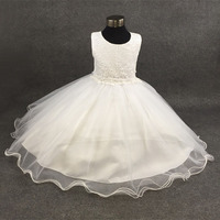 Summer Formal First Communion Lace Dresses Girl Wedding Party Tulle Lace Infant Pageant Flower Princess Dress