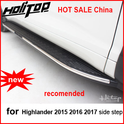 running board side step side nerf bar For Toyota Highlander Kluger 2015-2018,from ISO9001 factory,hot sale in China,recomended