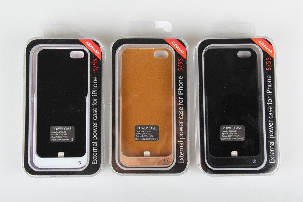 14b40032666 4200 mAh bateria externa Backup carregador para o iPhone 5 5S Power Bank  capa para o iPhone 5 5S portátil caixa de bateria 25 P em Sacos & Casos de  telefone ...