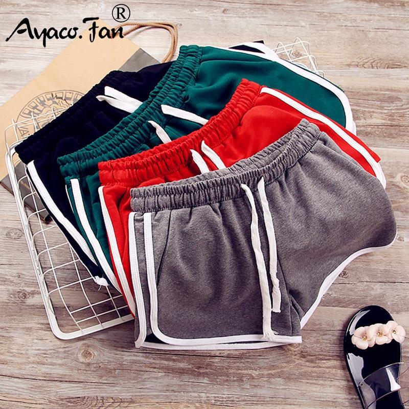 Sports Shorts Summer 2019 New Elastic Drawstring Patchwork Soft Women Shorts For Girls Female Lady Casual Slim Hot Short Pants