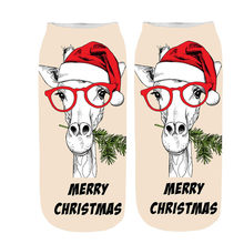 New arrival Women Winter Warm Print Snowman Cotton Socks Comfortable Slippers thermal warm animal Sock Sweet Christmas Gift D401(China)