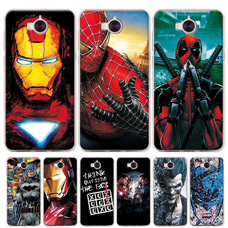 Charming Hero Deadpool Case Cover For Huawei Y5 2017 iron Ma