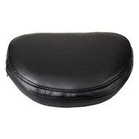 Free Shipping Motorcycle Leather Rear Backrest Sissy Bar Cushion Pad Motor Bike Backrest Black