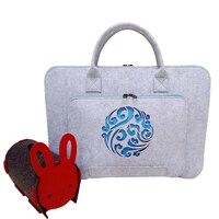 Wool Felt Laptop Sleeve Bag For Macbook Air Pro Retina 11 13 15 17 Notebook Pouch