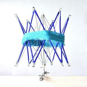 Синий шерстяной держатель для намотки шаров, машина, зонтик, пряжа, Swift, ручное вязание, инструменты для намотки, металл, Хэнк, пряжа, инструме...