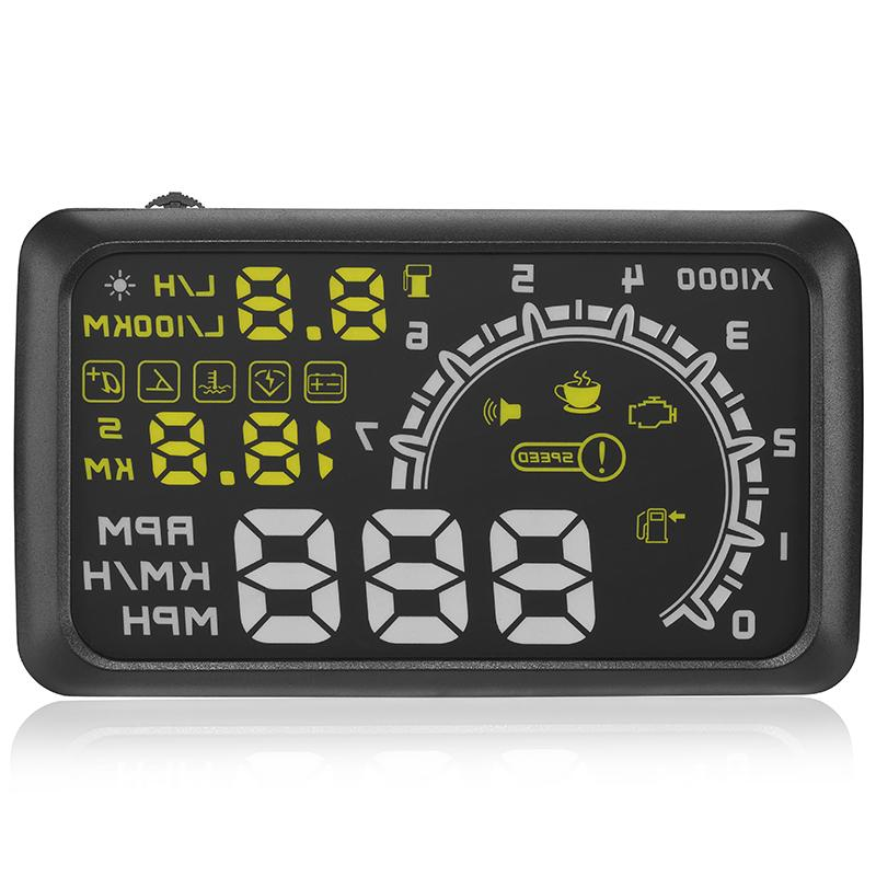 5.5 Inch OBD2 Automotive Heads-up Display W02 Black Car Electronics Products Automatically Adapt  to the Models