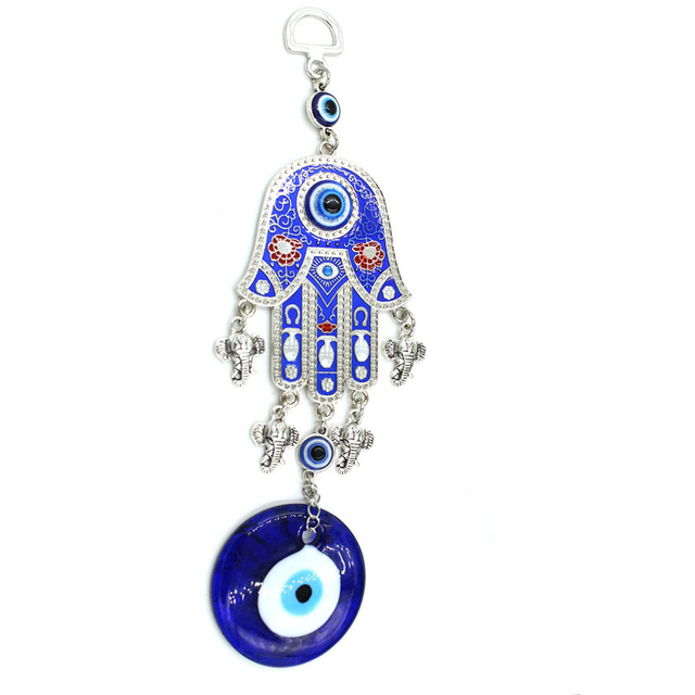 Evil Eye Wall Hanging aliexpress : buy lucky hamsa elephant blue eye charm hanging
