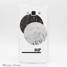 525G Calculating a Jump Over The Moon Print Transparent Hard Case for Galaxy A3 A5 A7 8 Note 2 3 4 5 J5 J7 Grand 2 Prime