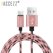 !ACCEZZ USB Type C Cable For Samsung S10 S9 S8 Huawei P9 Mate 20 Pro P20 Lite Fast Charging Cables Data Sync USBC Wire