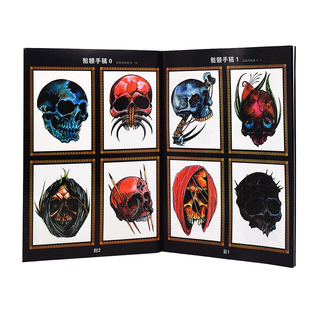 Tatuagem do Crânio Tatuagem Pintura Pictures Referência Suprimentos
