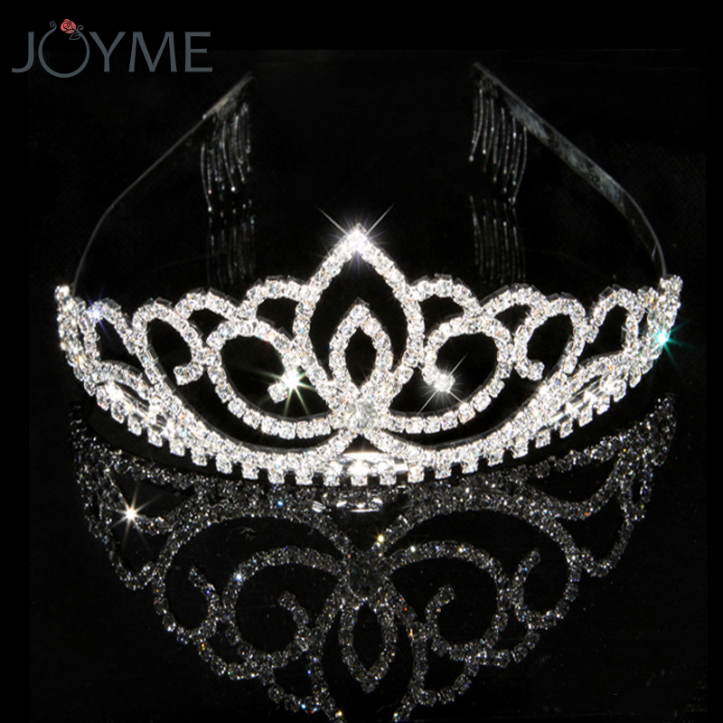 Luxury Shiny Crystal Hairwear Princess Crown Bride Tiaras And Crowns Bridal Jewelry Diadeem Flower Wedding Hair jewellery