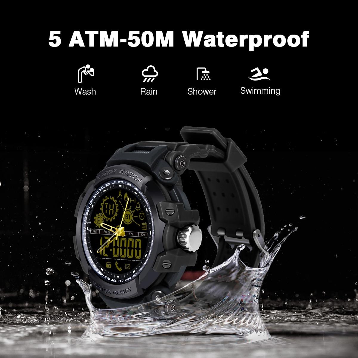 Diggro DX16 DI10 reloj elegante deporte IP68 Waterproof tiempo en espera Bluetooth 4,0 Smart 1,21 pulgadas reloj para IOS Android