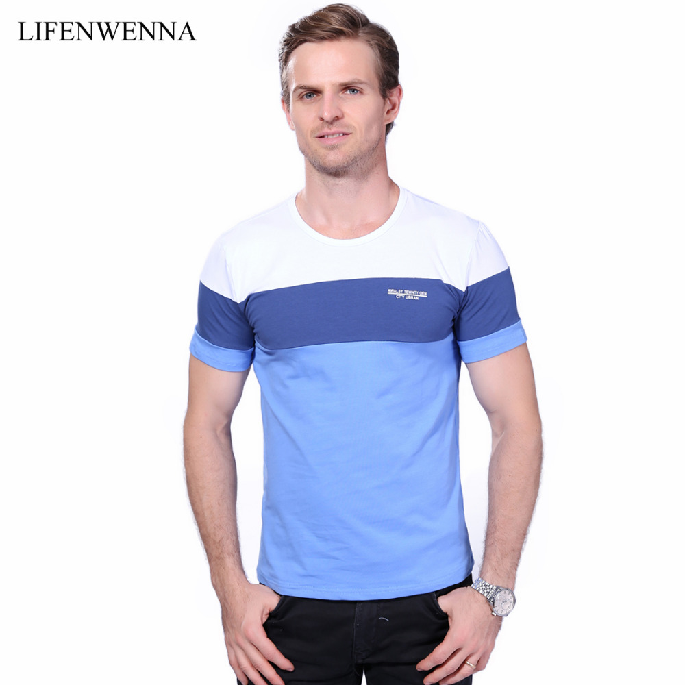 Summer mens t shirt 2017 new fashion striped t shirt mens for Best slim fit mens t shirts