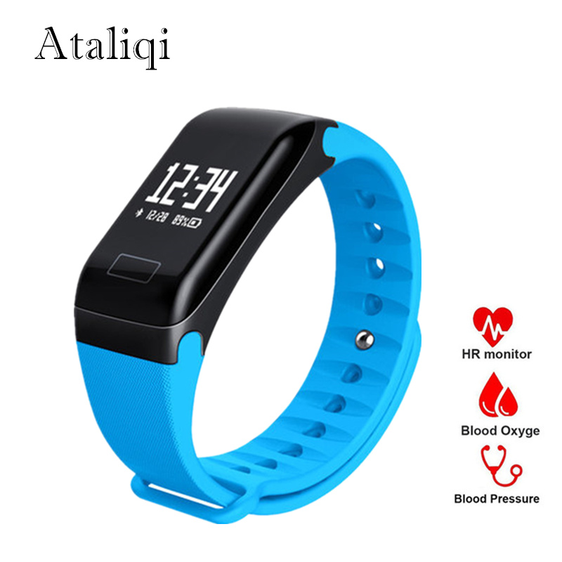 Smart Band Watch F1 Blood Oxygen Blood Pressure Bracelet Activity Fitness Tracker heart rate monitor Wristband for xiaomi huawei