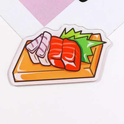 1 Pcs Lucu Kartun Pizza dan Makanan Minuman Acrylic Bros Lencana untuk Wanita Ransel Pakaian Dekorasi Ikon Anak-anak Bros Pin Hadiah