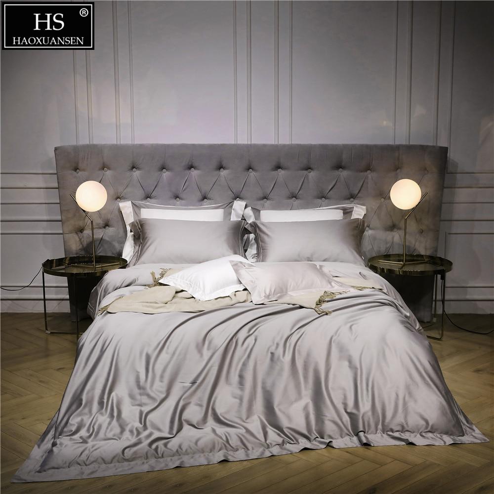 140S Egyptian Grey Luxury Modern Bedding Set 4Pcs King ...