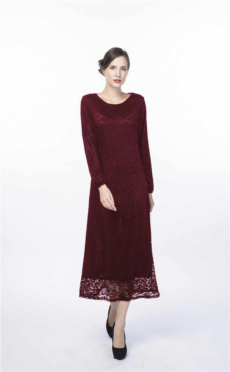 Tessuto africano del merletto turco musulmano vestito manica lunga musulmano vestito abaya donne musulmane vestito islamico vestito aperto abaya in dubai 013