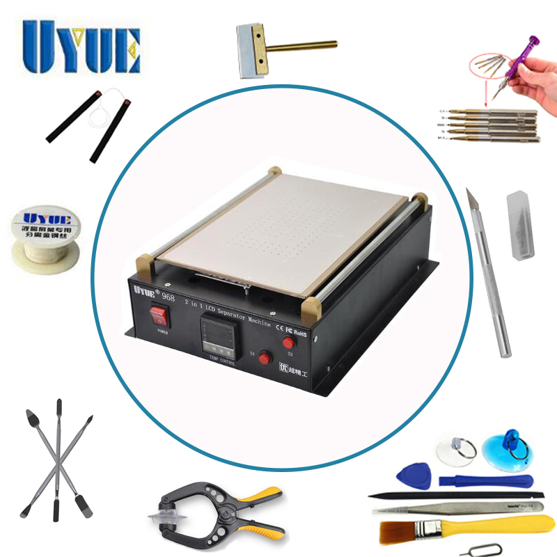 UYUE 14 inch Build-in Air Pump Vacuum LCD Separator Machine  LCD Separator Split Screen Repair Machine for Samsung Tablet PC 968 110 220v for apple samsung lcd screen split assembly separator machine youyue 946d