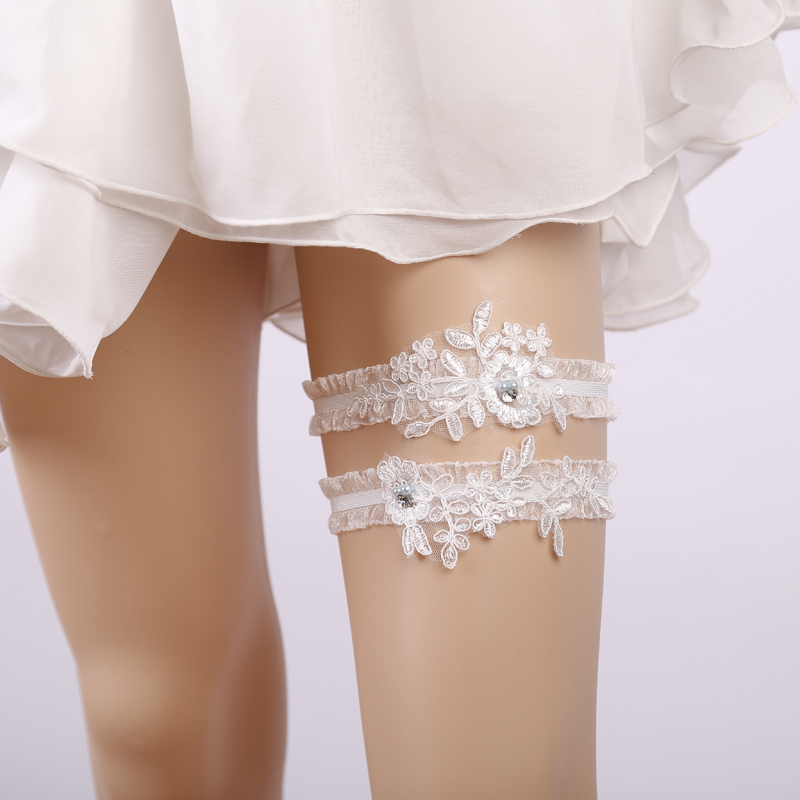 Women's Intimates Underwear & Sleepwears White Lace Flower Gtglad New Sexy Hot Bride Wedding Garter Lace Prom Get Garters For Women/female/bride Thigh Ring Bridal Leg Cheapest Price From Our Site
