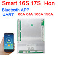 DYKB 16 17S S 60A 80A 100A 150A Lifepo4 li-ion BMS placa de proteção da bateria de lítio Inteligente monitor de software APLICATIVO Bluetooth UART